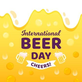 Diseño de ilustración del día internacional de la cerveza