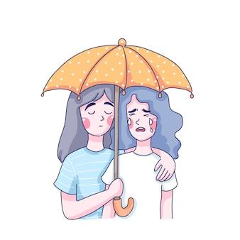 Diseño de ilustración del día mundial de la prevención del suicidio