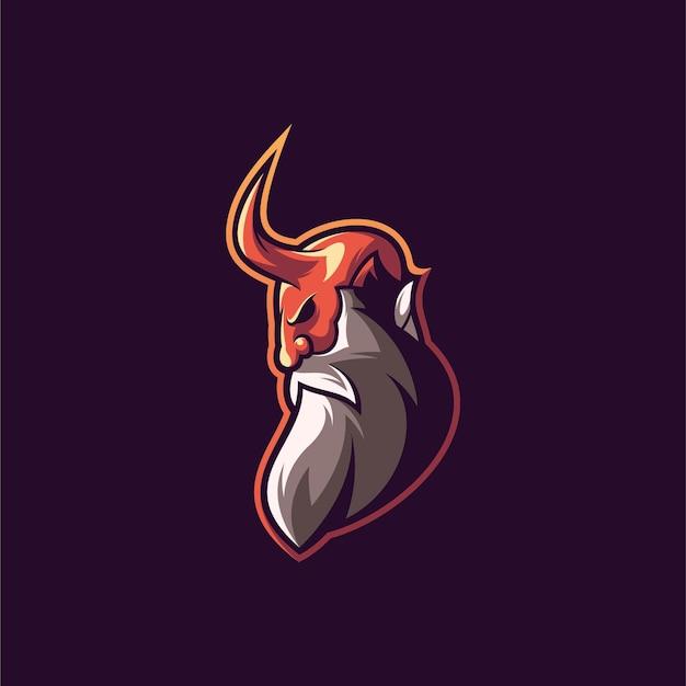 Diseño de ilustración de diablo.