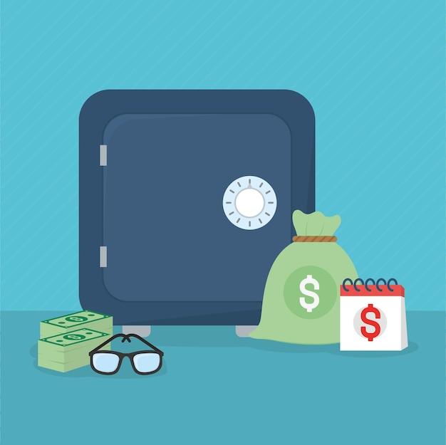Diseño de ilustración de dinero
