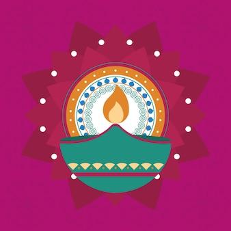 Diseño de ilustración de diwali