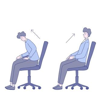 Diseño de ilustración de ejercicio de hombre de negocios