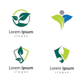 Diseño de ilustración de icono de ecología