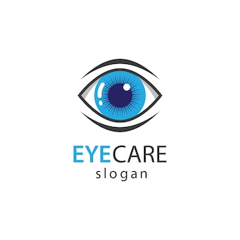 Diseño de ilustración de imágenes de logotipo de cuidado de ojos