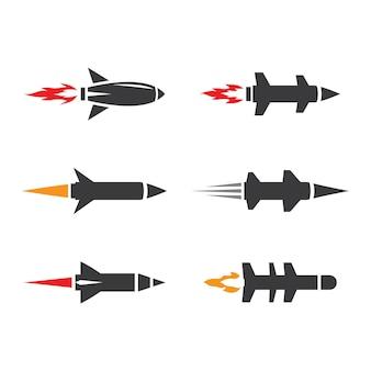 Diseño de ilustración de imágenes de logotipo de misiles
