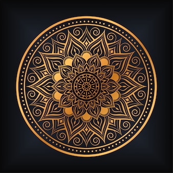Diseño de ilustración de mandala de lujo arabesco