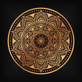 Diseño de ilustración de mandala de lujo