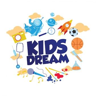 Diseño de ilustración de niños