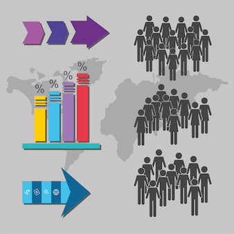 Diseño de ilustración de personas de población
