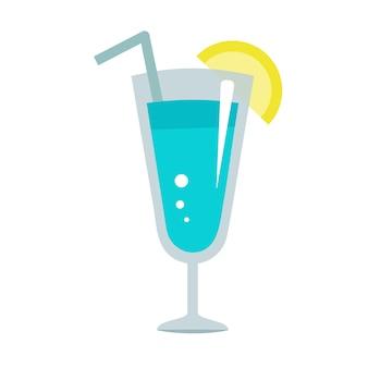 Diseño de ilustración plana azul hawaii aislado
