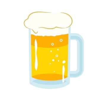 Diseño de ilustración plana de cerveza de barril aislado