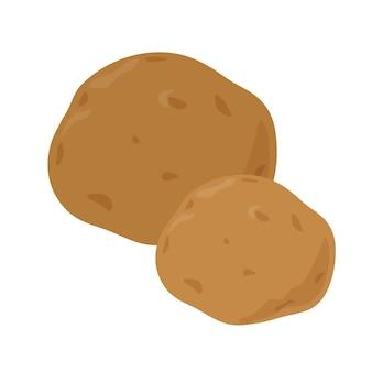 Diseño de ilustración plana de patatas aislado