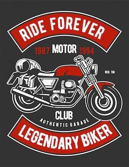 Diseño de ilustración de ride forever
