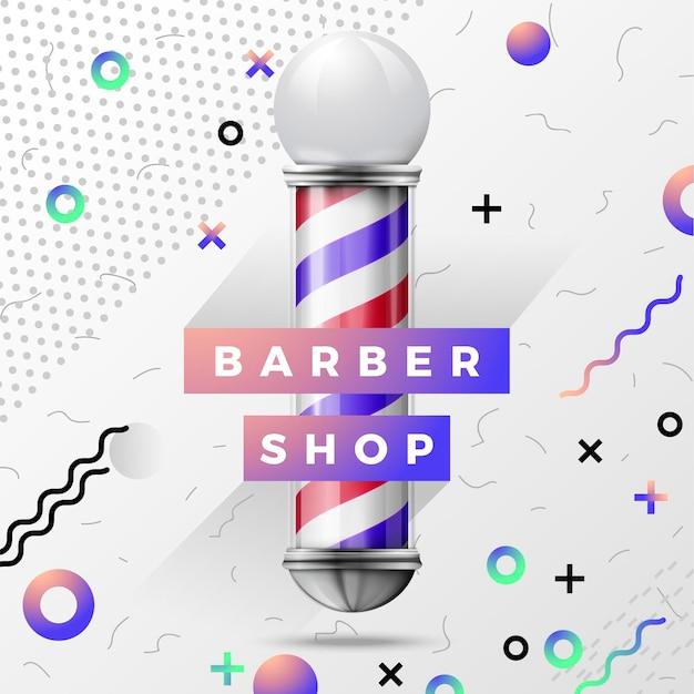 Diseño de ilustración de signo de barbería