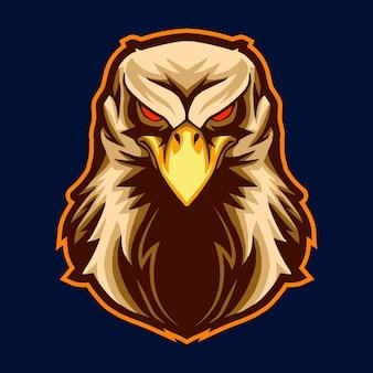 Diseño de ilustración de vector de cabeza de águila aislado