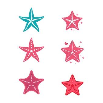 Diseño de ilustración de vector de plantilla de icono de pez estrella de mar