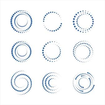 Diseño de ilustración de vector de puntos de círculo de semitono