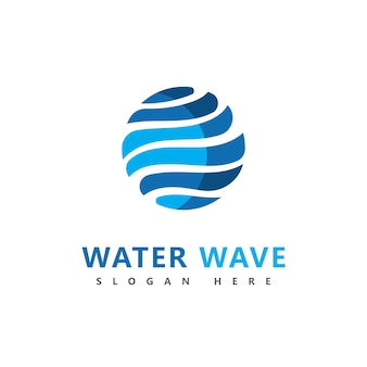 Diseño de ilustración de vector de símbolo de logotipo de onda