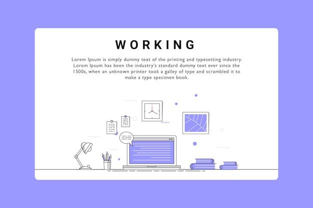 Diseño de ilustración vectorial de trabajo