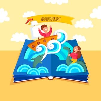 Diseño de ilustraciones del día mundial del libro