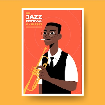 Diseño ilustrado de póster musical