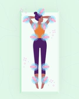 Diseño ilustrado de terapia de reiki