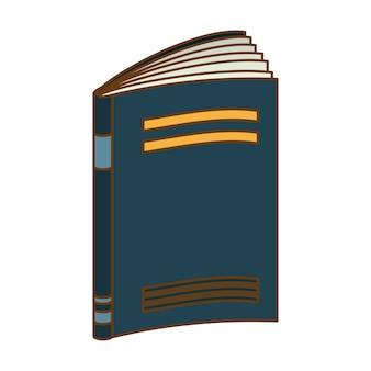 Diseño de imagen de icono de cuaderno azul