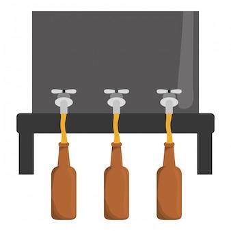 Diseño de imagen de icono de dispensadores de cerveza