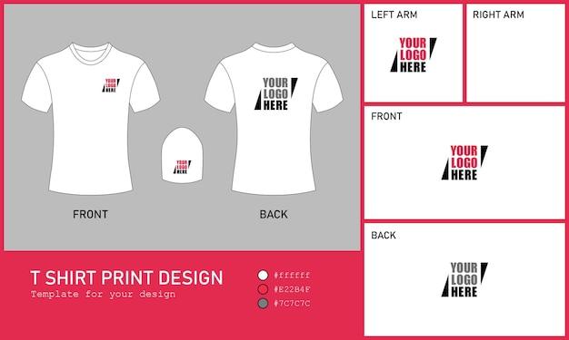 Diseño de impresión de camiseta