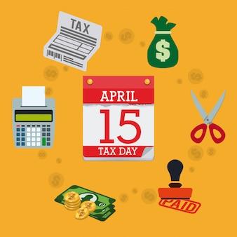 Diseño de impuestos, ilustración vectorial.