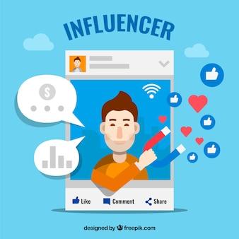 Diseño de influence marketing con post