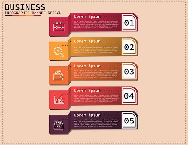 Diseño de infografía 3d negocio ilustración vectorial