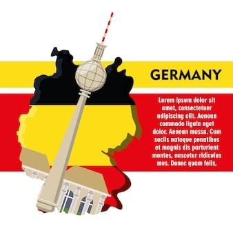 Diseño de infografía de alemania