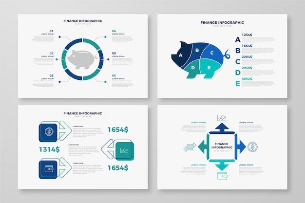 Diseño de infografía de concepto de finanzas