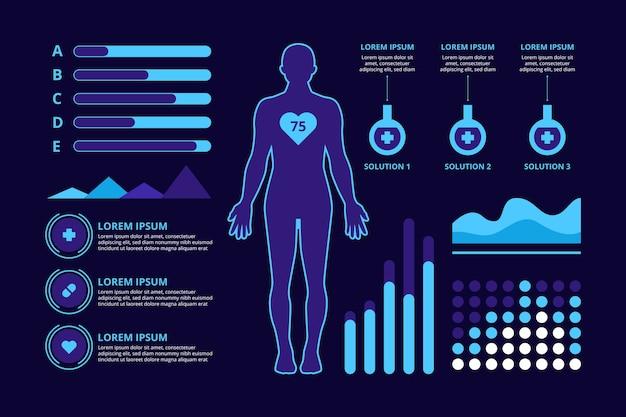 Diseño de infografía concepto médico