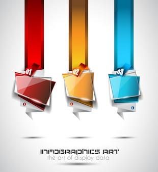 Diseño de infografía para diagramas de información, clasificación de artículos