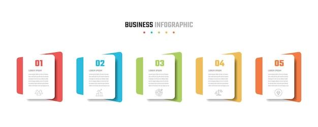 Diseño de infografía empresarial, ilustraciones vectoriales
