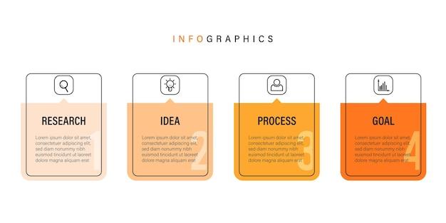 Diseño de infografía empresarial de presentación con iconos