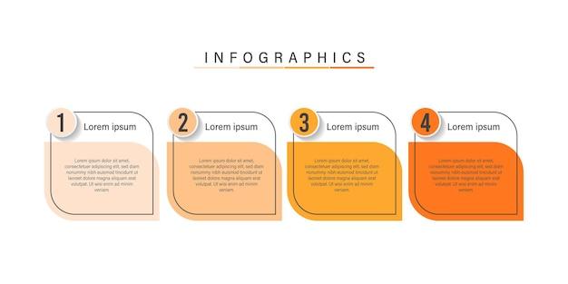 Diseño de infografía empresarial de presentación con números.