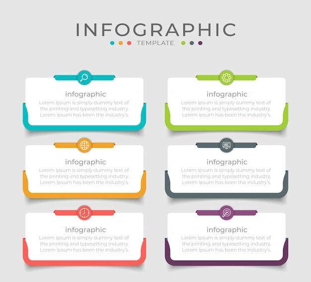 El diseño de infografía empresarial se puede utilizar para el diseño del flujo de trabajo, diagrama, informe anual.