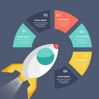 Diseño de infografía de inicio de negocios