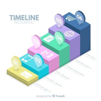 Diseño infografía con línea de tiempo