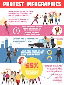 Diseño de infografías de acciones de protesta