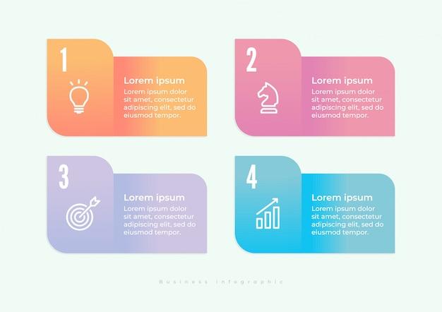 Diseño de infografías e iconos de marketing.