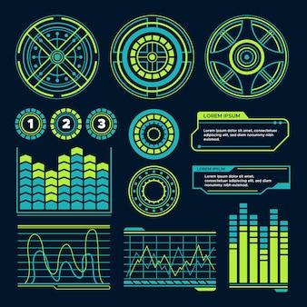 Diseño de infografías futuristas.