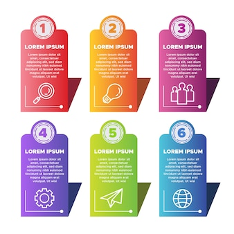 Diseño de infografías gradiente