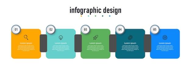 Diseño de infografías de línea de tiempo de pasos profesionales.