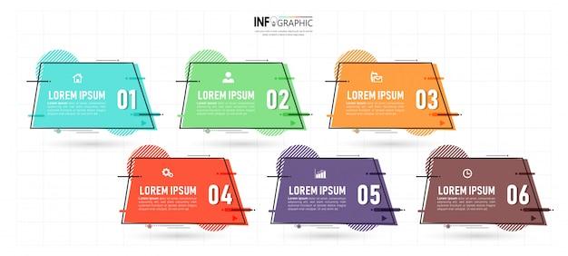 Diseño de infografías de seis pasos
