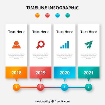 Diseño infográfica de línea de tiempo