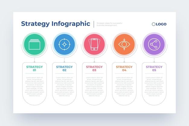 Diseño infográfico de estrategia empresarial